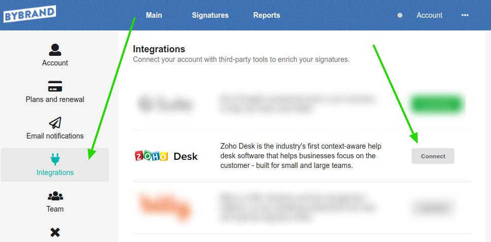 Zoho Desk integration
