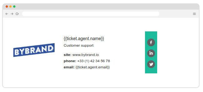 Sample Email Signature for Freshdesk support agent