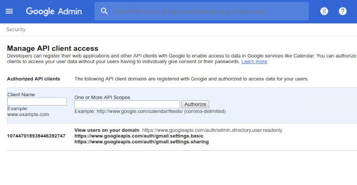 G Suite API access