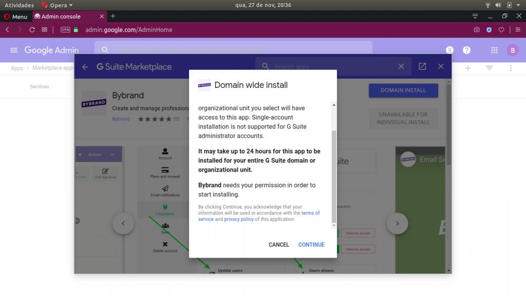 G Suite app authorization