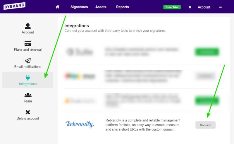 Install Rebrandly integration
