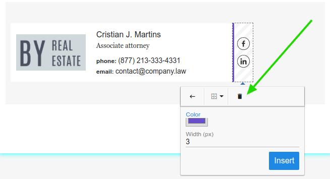 Remove email signature border