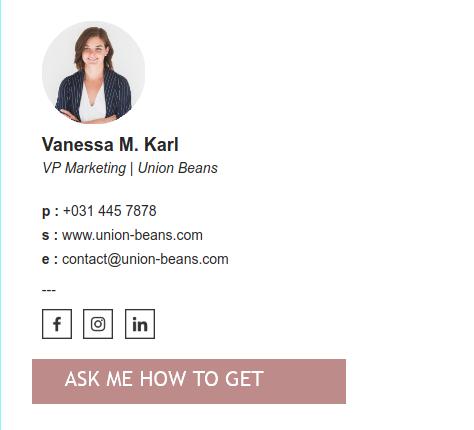 Sales emailsignature