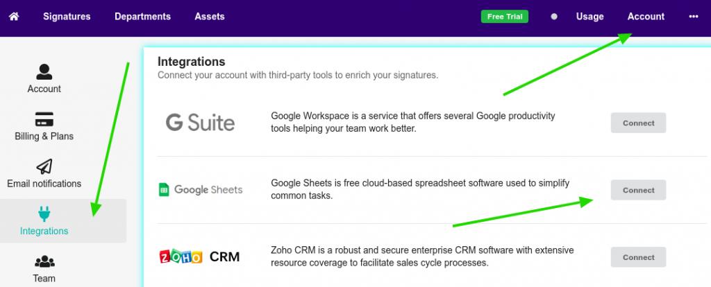 Bybrand + Google Sheets integration